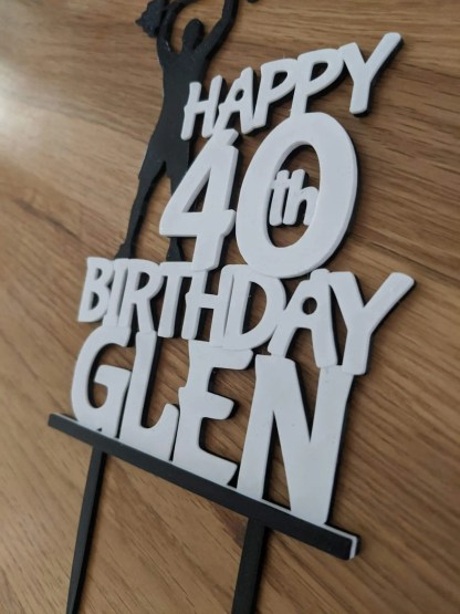 Gym Cake Topper, Fitness Cake Topper, Weightlifting Personalised Cake Topper, Birthday, Bespoke Cake Topper 1
