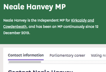 Neale Hanvey Independent MP