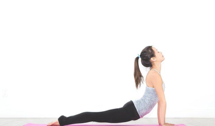 Lady doing Yoga Exercises
