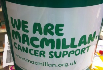 Coin bucket for Mcmillan Fund Raising event today