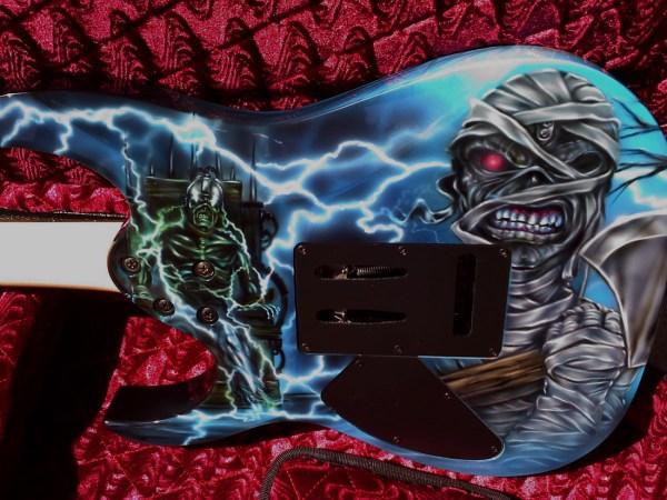 Custom Painted Guitar - Iron Maiden Eddie Airbrush