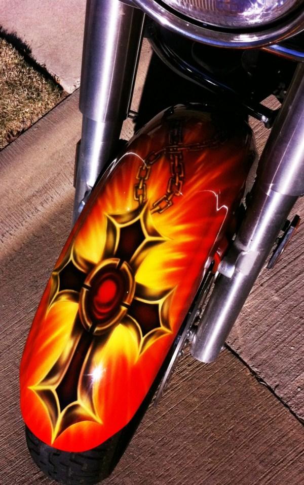 Christian Custom Motorcycle Airbrush Paint