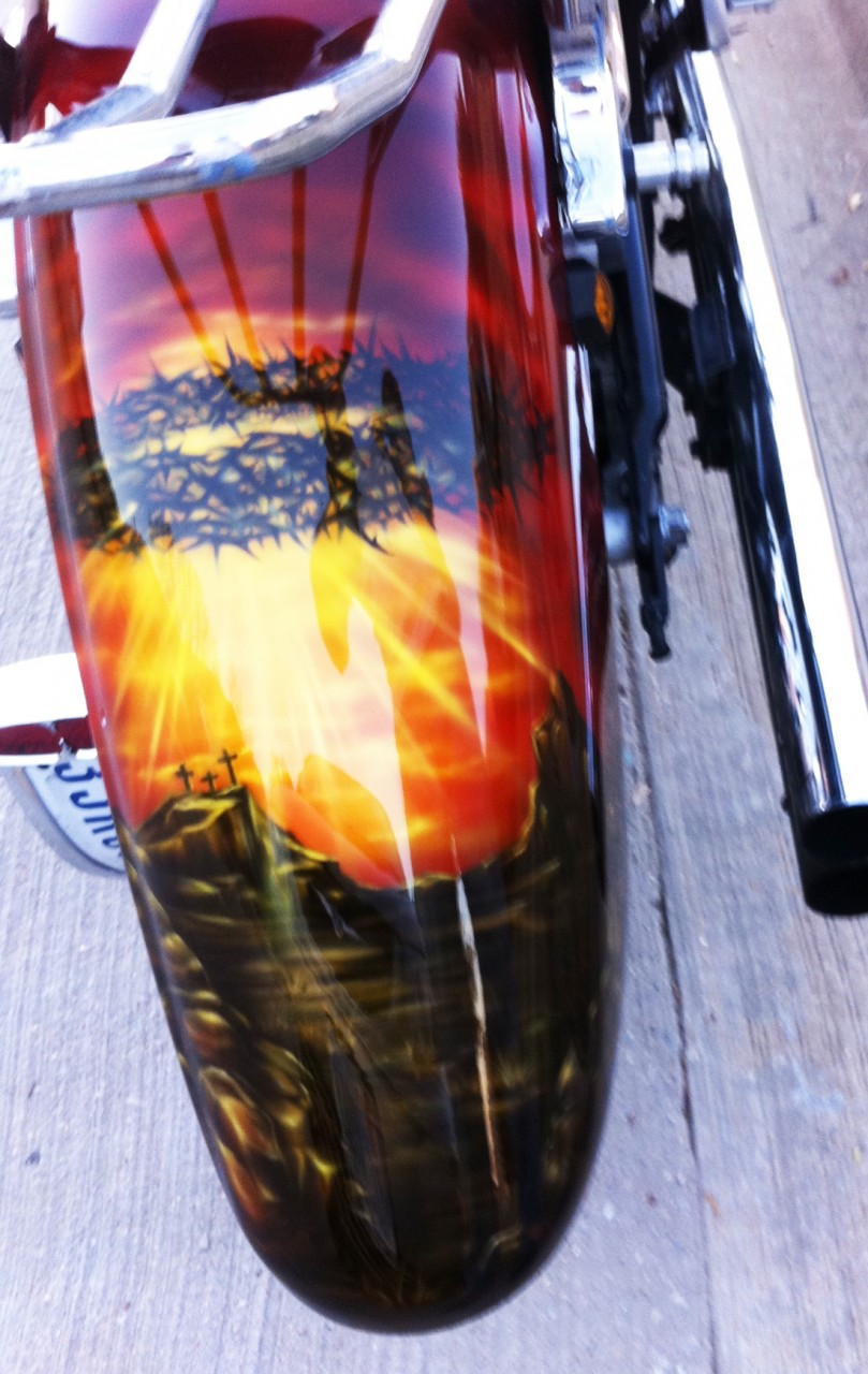 Christian Airbrushed Motorcycle Paint Scheme 4 Dallas