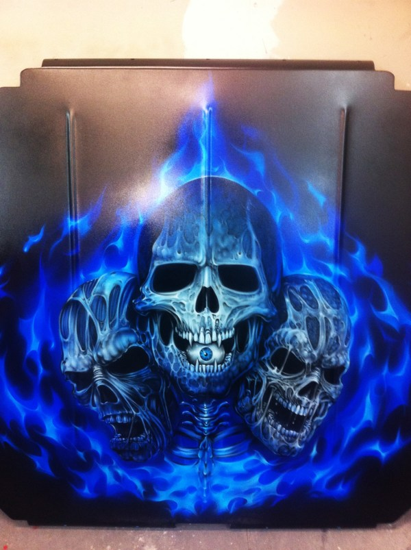 Custom Motorcycle Airbrush Art