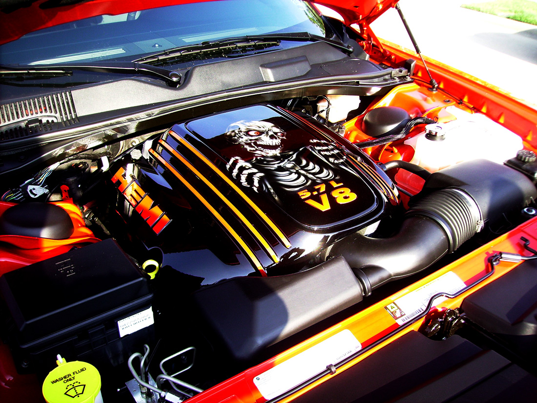 hight resolution of dodge challenger engine cover