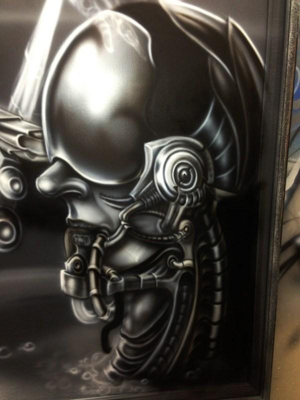 Biomechanic Airbrush Painting Dallas Airbrushdallas