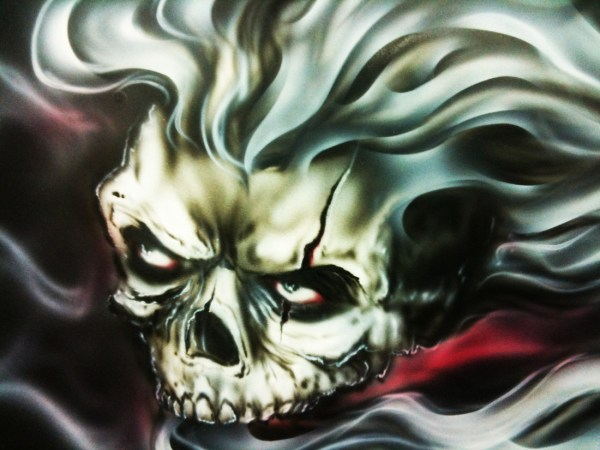 Random Airbrushed Skulls Dallas Airbrushdallas Airbrush