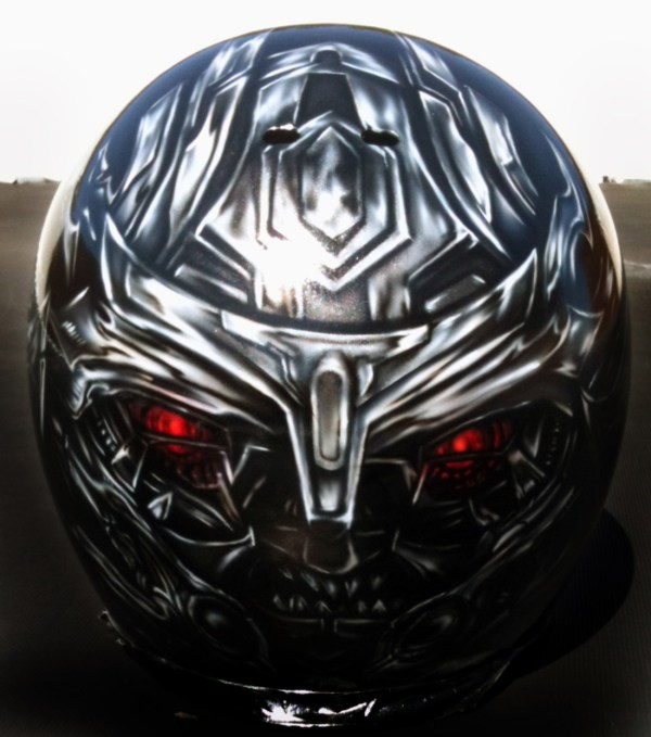Custom Airbrushed Helmets-transformers- Megatron-optimus