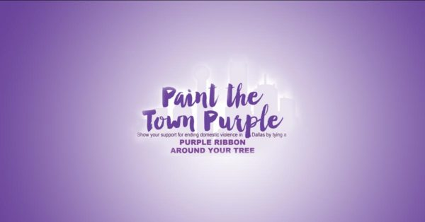 Dallas residents Paint the Town Purple