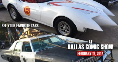 See your favorite pop culture cars at Dallas Comic Show on Sunday, February 12!