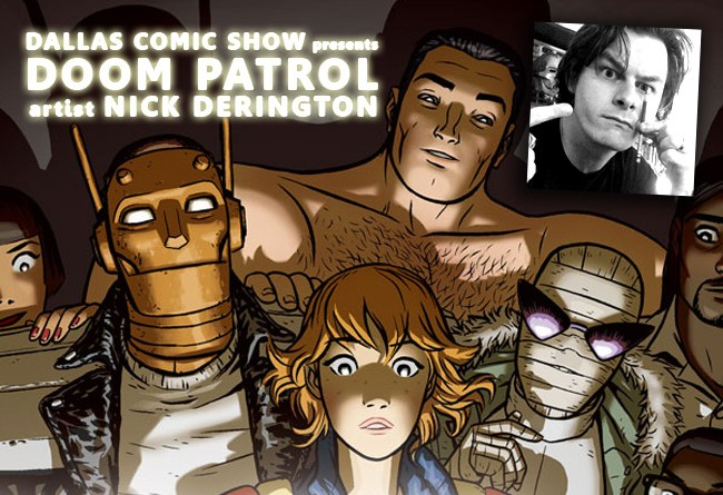 DC Young Animal DOOM PATROL artist Nick Derington comes to DCS Feb 11-12