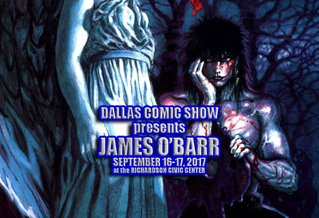 THE CROW creator/artist James O'Barr returns to DCS September 16-17
