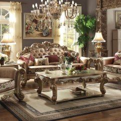 Fabric Sofa Sets With Wood Trim Two Person Size Dallas Designer Furniture | Vendome Formal Living Room Set ...
