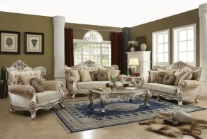 Acme   50660 Bently Formal Leather Living Room Set ...