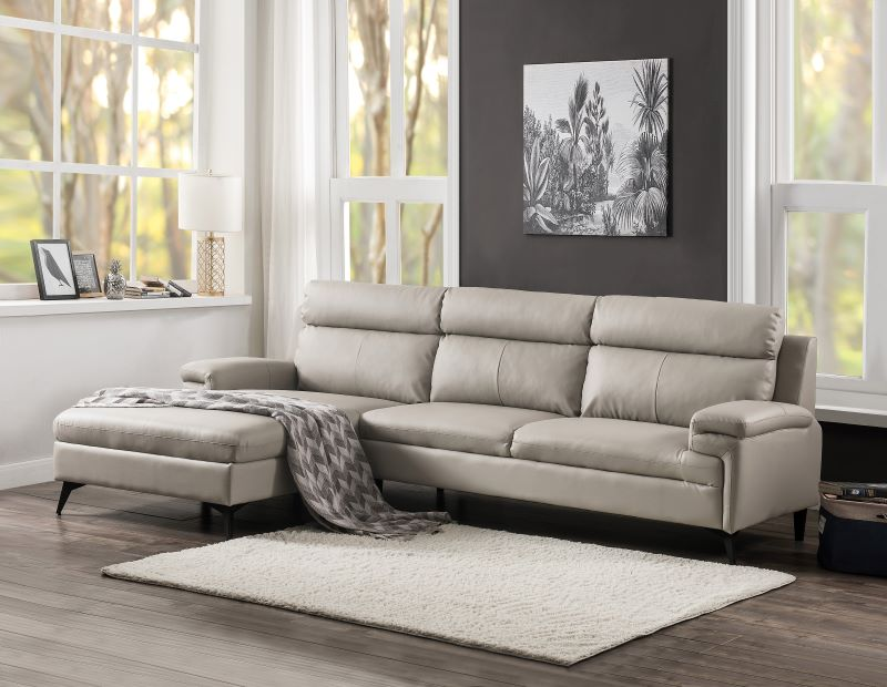 acme 54435 werner beige sectional sofa free delivery