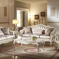 Formal Living Room Set Modern Side Tables For Acme 53540 Chantelle In White Dallas