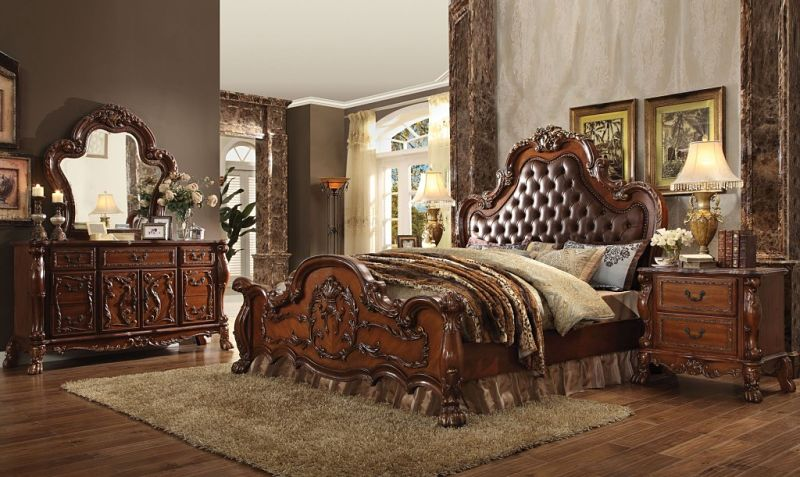 Acme 23140Q Dresden Bedroom Set In Cherry Dallas