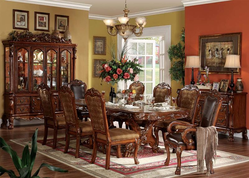 Acme  12150 Dresden Formal Dining Room Set in Cherry