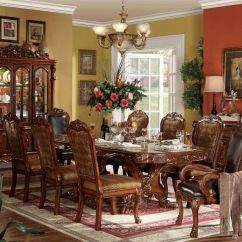 Ashley Furniture Kitchen Sets Discount Acme | 12150 Dresden Formal Dining Room Set In Cherry ...