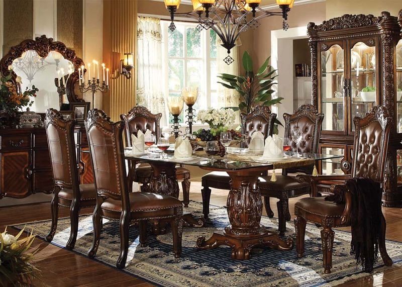 luxury leather living room sets red black and white rooms ideas dallas designer furniture | vendome formal dining set ...