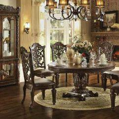 Round Living Room Set Bay Window Treatments For Acme 62020 Vendome Formal Dining Dallas Designer Furniture