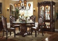 Acme   62010 Vendome Round Formal Dining Room Set with ...