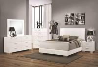 Dallas Designer Furniture | Felicity Glossy White Bedroom Set