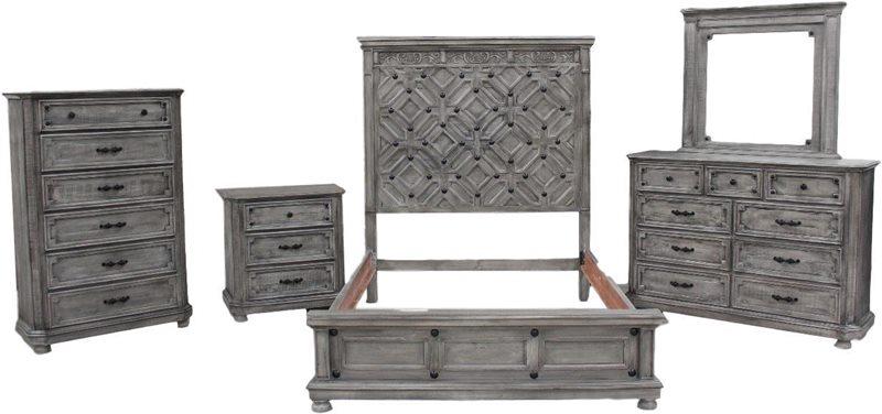 grey distressed rustic bedroom set in texas clearance dallas designer furniture
