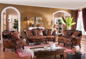 Pennington Formal Leather Living Room Set