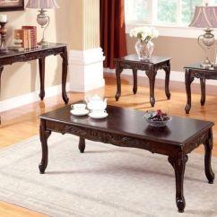 Formal Living Room End Tables Color Schemes With Dark Brown Furniture Of America Sm6108 Bonaparte Set