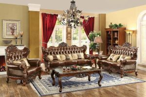 Furniture of America   CM6786 Jericho Formal Leather ...