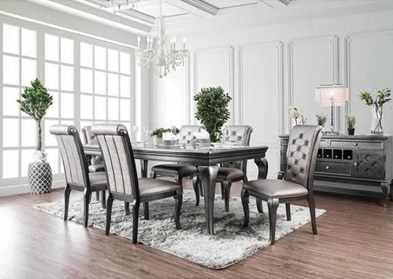 Furniture Of America Cm3219gy T Amina Dining Room Set Dallas Designer Furniture