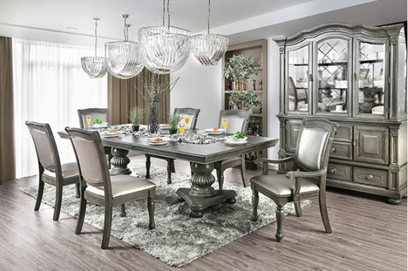 Furniture Of America Cm3350gy T Alpena Formal Dining Room Set Dallas Designer Furniture