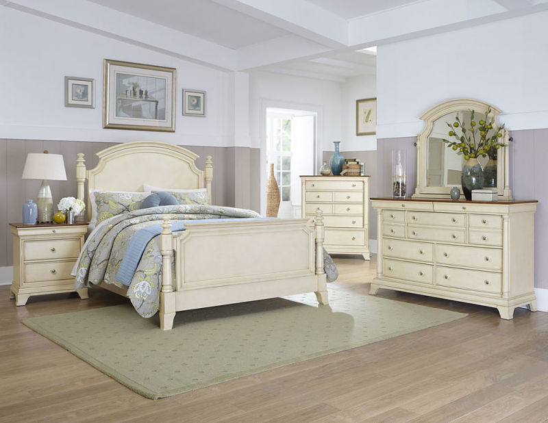 Dallas Designer Furniture  Inglewood Bedroom Set in Whitewash