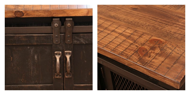 ifd furniture 370 pueblo black rustic coffee table set dallas designer furniture
