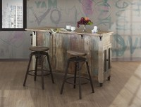 IFD Furniture   968 Antique Multicolor Rustic Kitchen ...