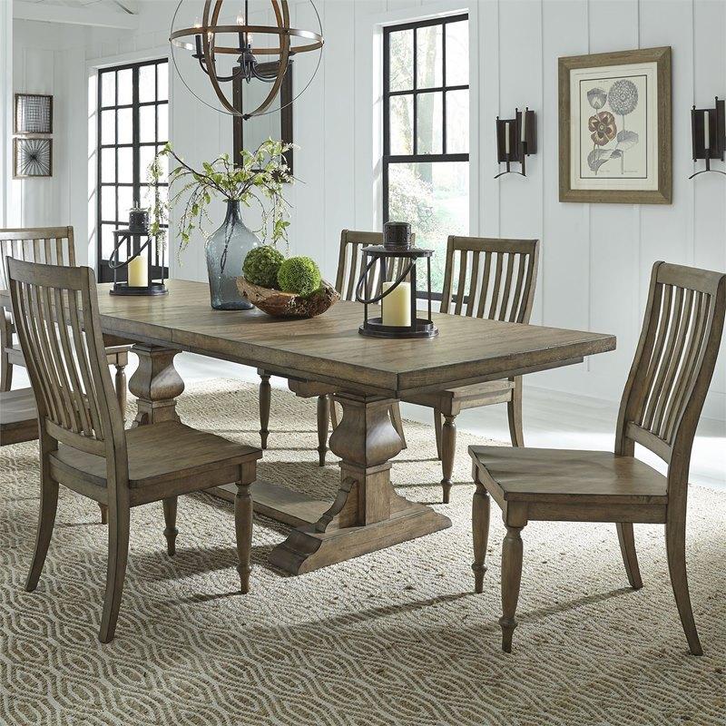 Liberty 779 Dr 7trs Harvest Home Dining Room Set With Trestle Base Dallas Designer Furniture
