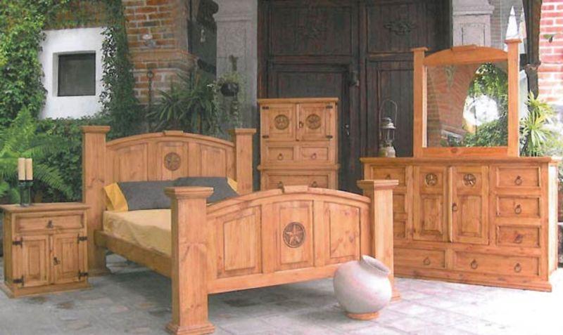 Dallas Designer Furniture Mansion Rustic Bedroom Set