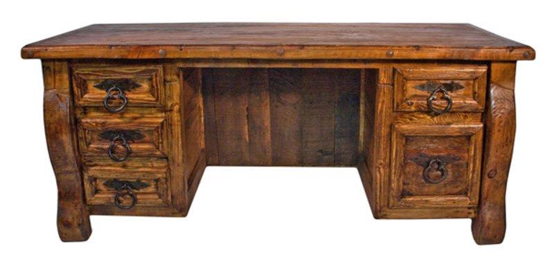 LMT  Old Wood Rustic Desk  Dallas Designer Furniture
