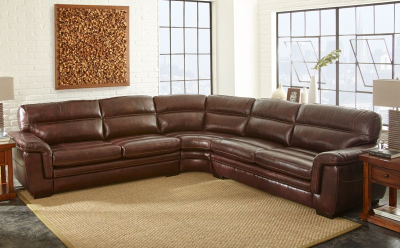 Dallas Designer Furniture Henry Leather Sectional
