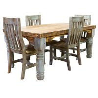 Rustic Dining Room Chairs Rough Wood Dining Table Rustic ...