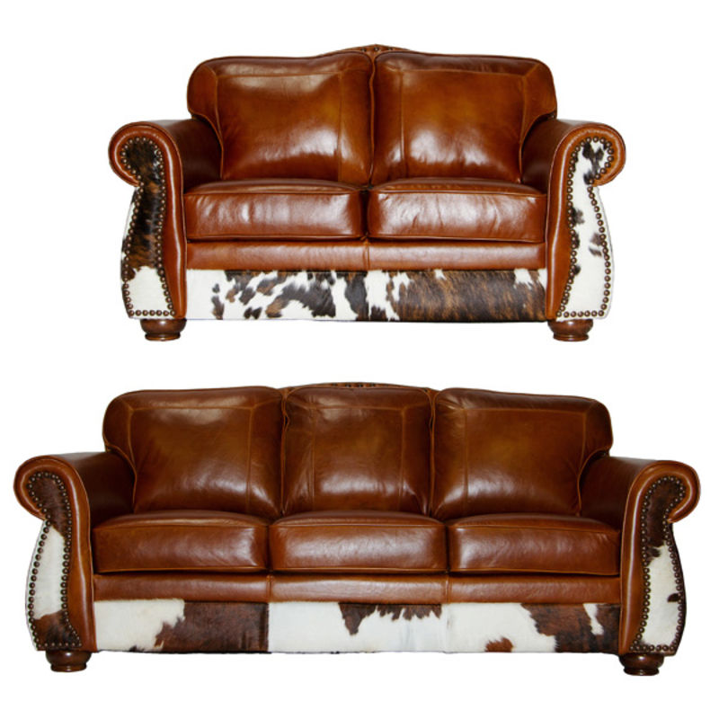 nailhead recliner sofa klyne ii left arm sectional apartment rustic leather and cowhide set | dallas designer ...