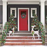 Classy Holiday Door and Porch Decorating - Dallas Door Designs