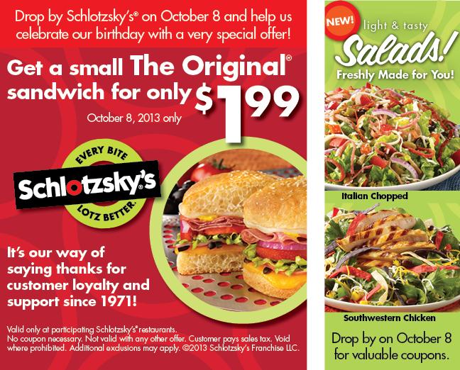Celebrate Schlotzskys on Oct 8  Dallas Food Nerd