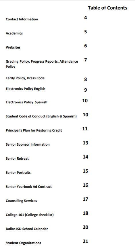 Student Handbook / Overview