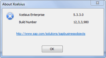 Xcelsius 2008 version numbers