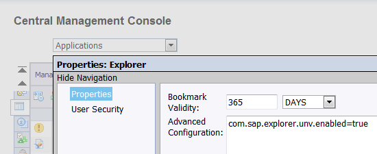 Enable UNV support on Explorer 4.0