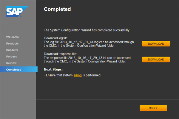 BI41 System Configuration Wizard Medium 600 09