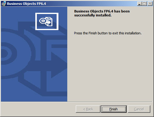 Fix Pack 6.4 Install Finish