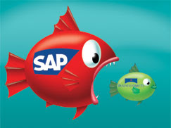 SAP fish eating BusinessObjects fish